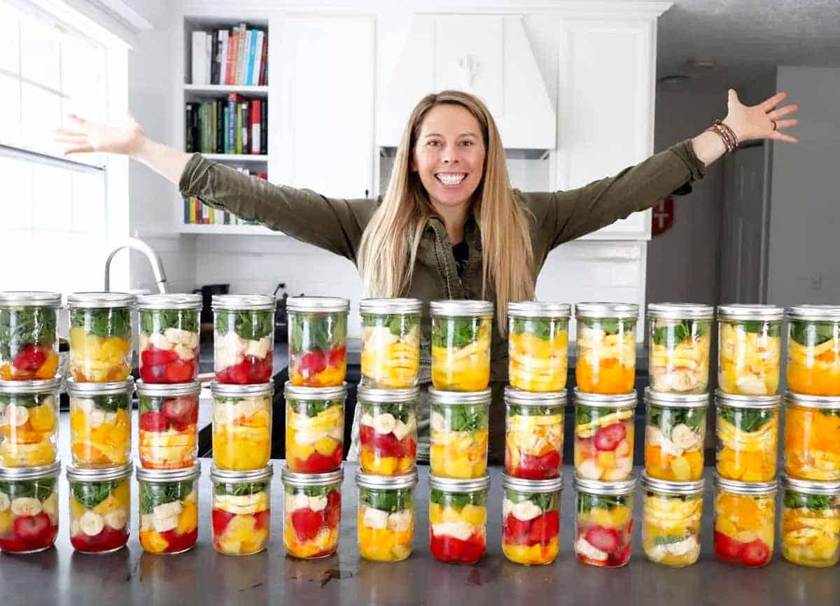DIY frozen smoothie packs