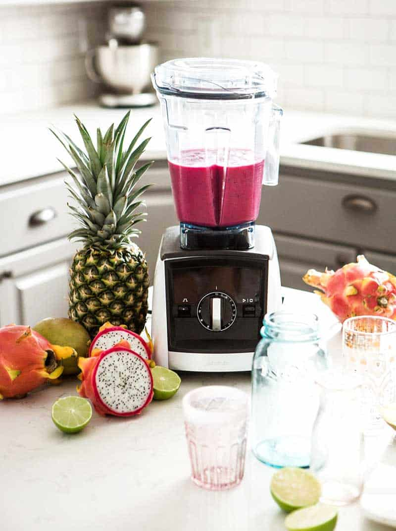 Tropical Pink Smoothie in a Vitamix