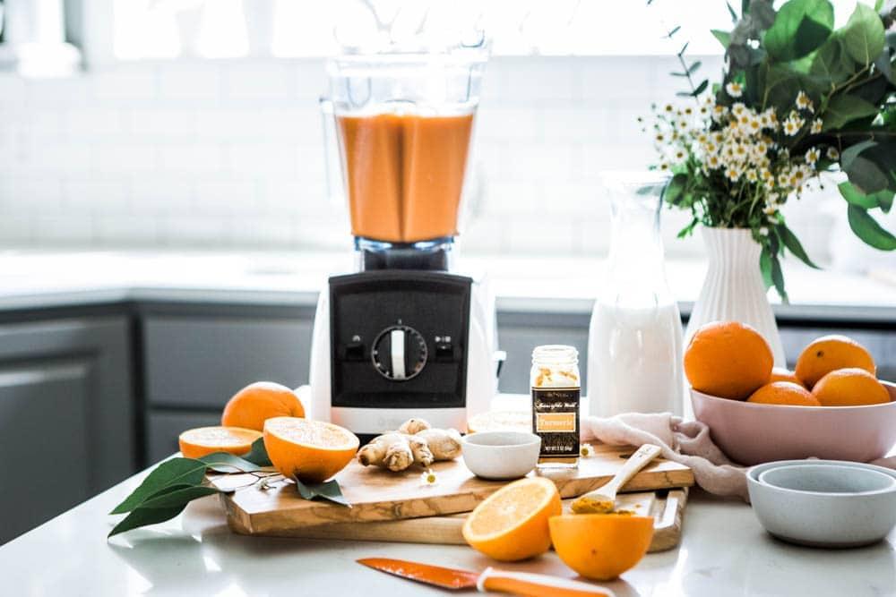 Honey Turmeric Smoothie in a Vitamix