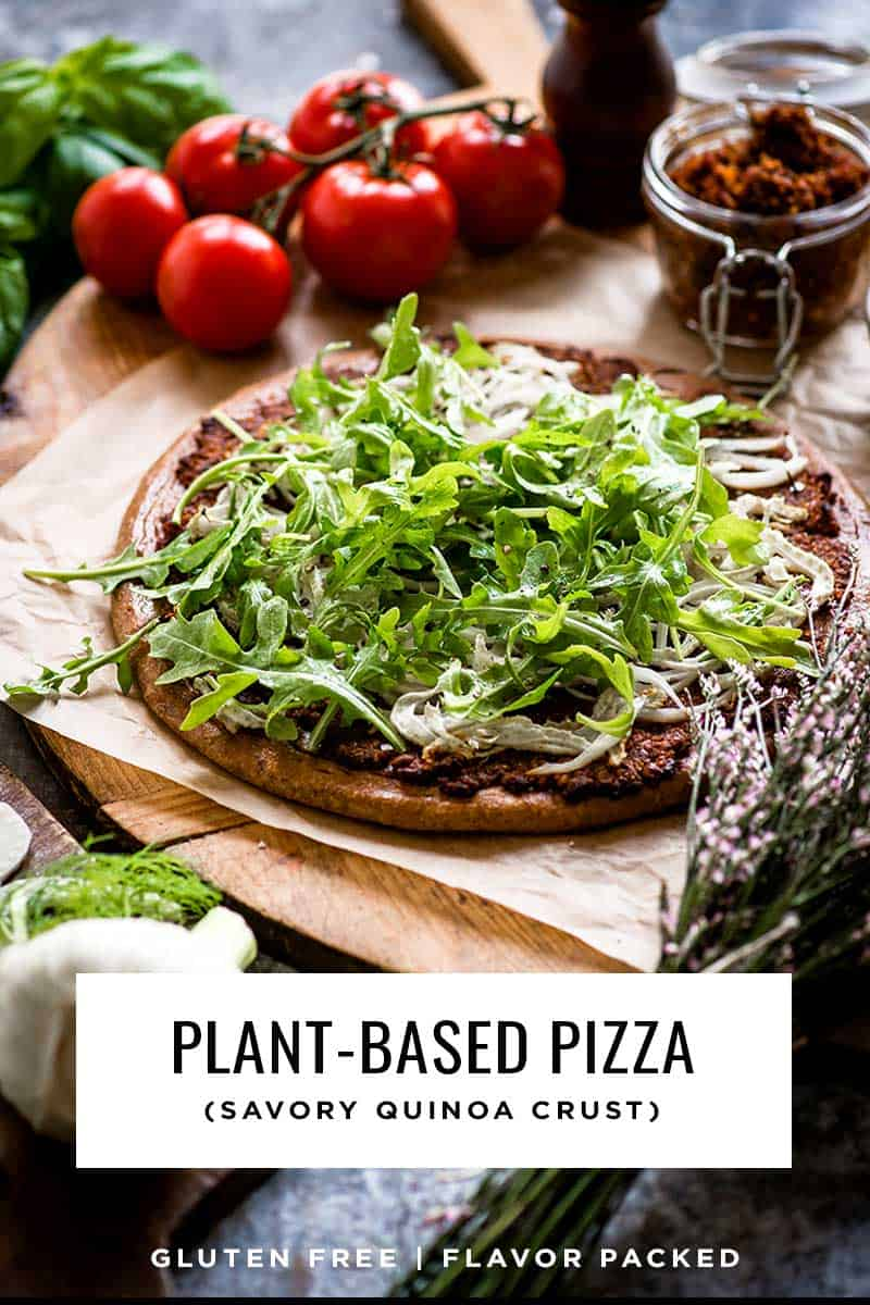 Plant-Based Pizza recipe with quinoa crust