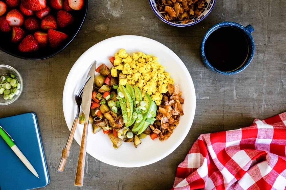 A delicious, vegan breakfast bowl