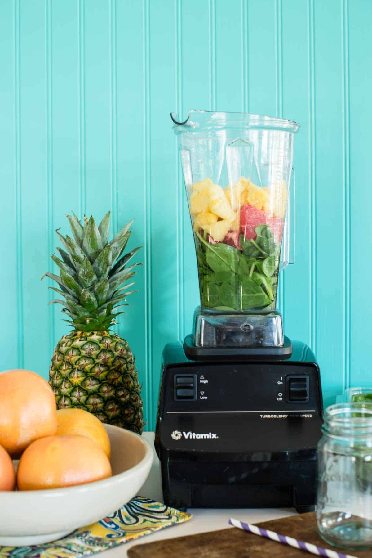 Natural energy with green smoothie