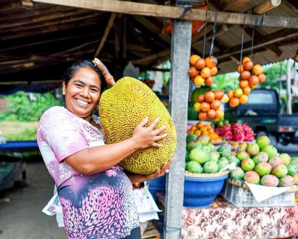 fresh jackfruit is super huge + nutrient dense