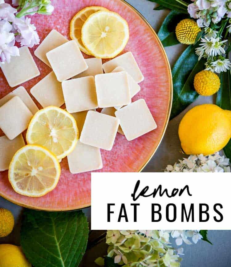Lemon Fat Bomb Plate Full of Plant-Based Ingredients