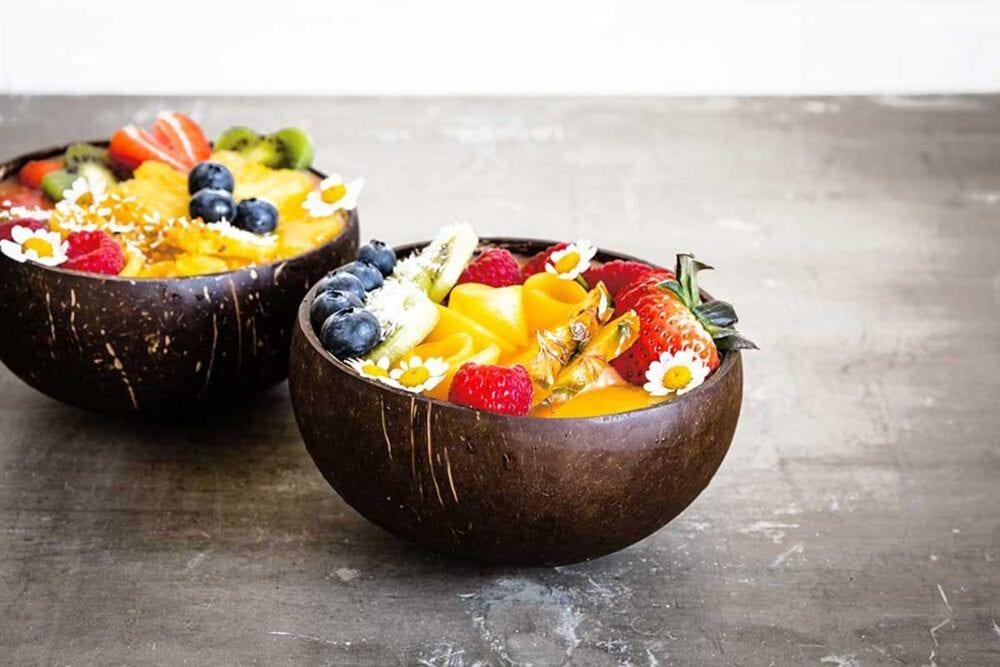 Fresh and colorful mango smoothie bowl