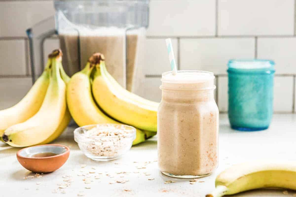 Smoothie recipe with oatmeal