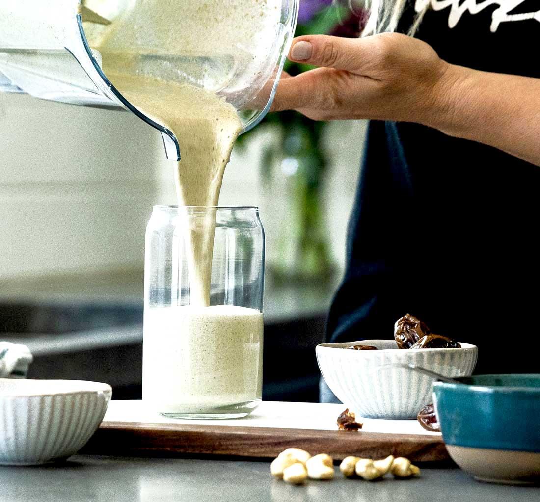 Healthy vanilla protein shake