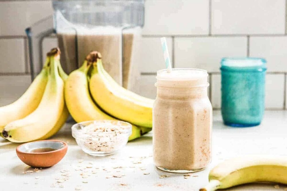 breakfast smoothie made with plants