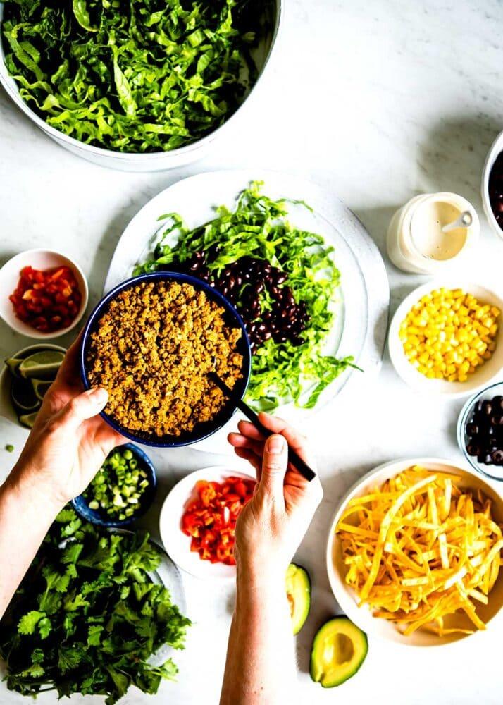 Healthy Taco Salad recipe ingredients