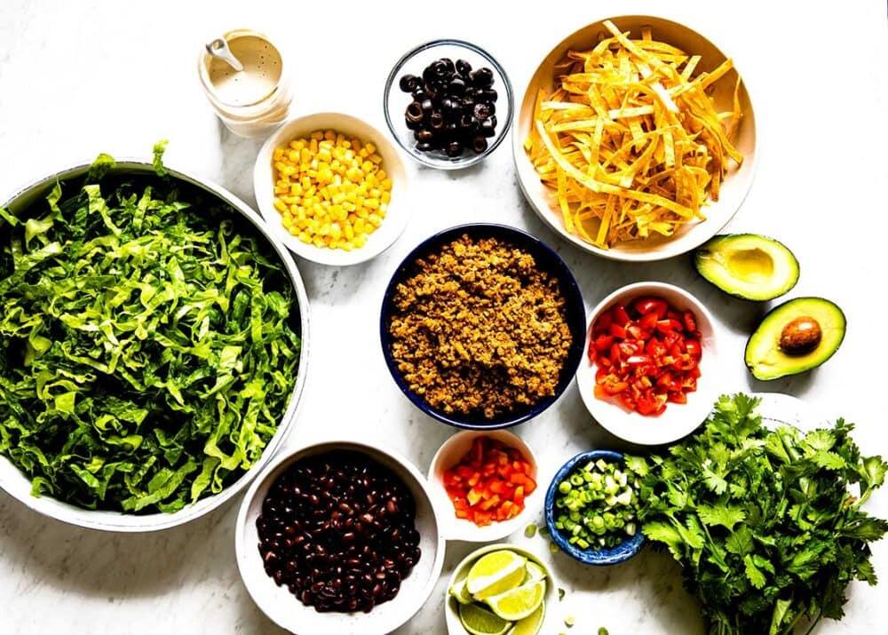 healthy plant based taco salad recipe
