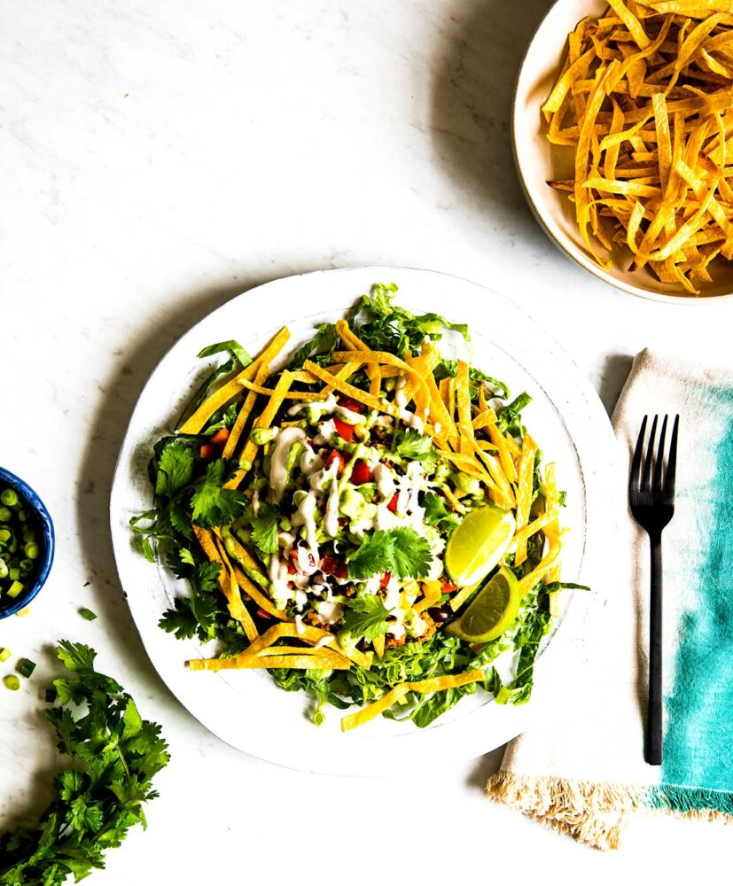 Plant based taco salad recipe