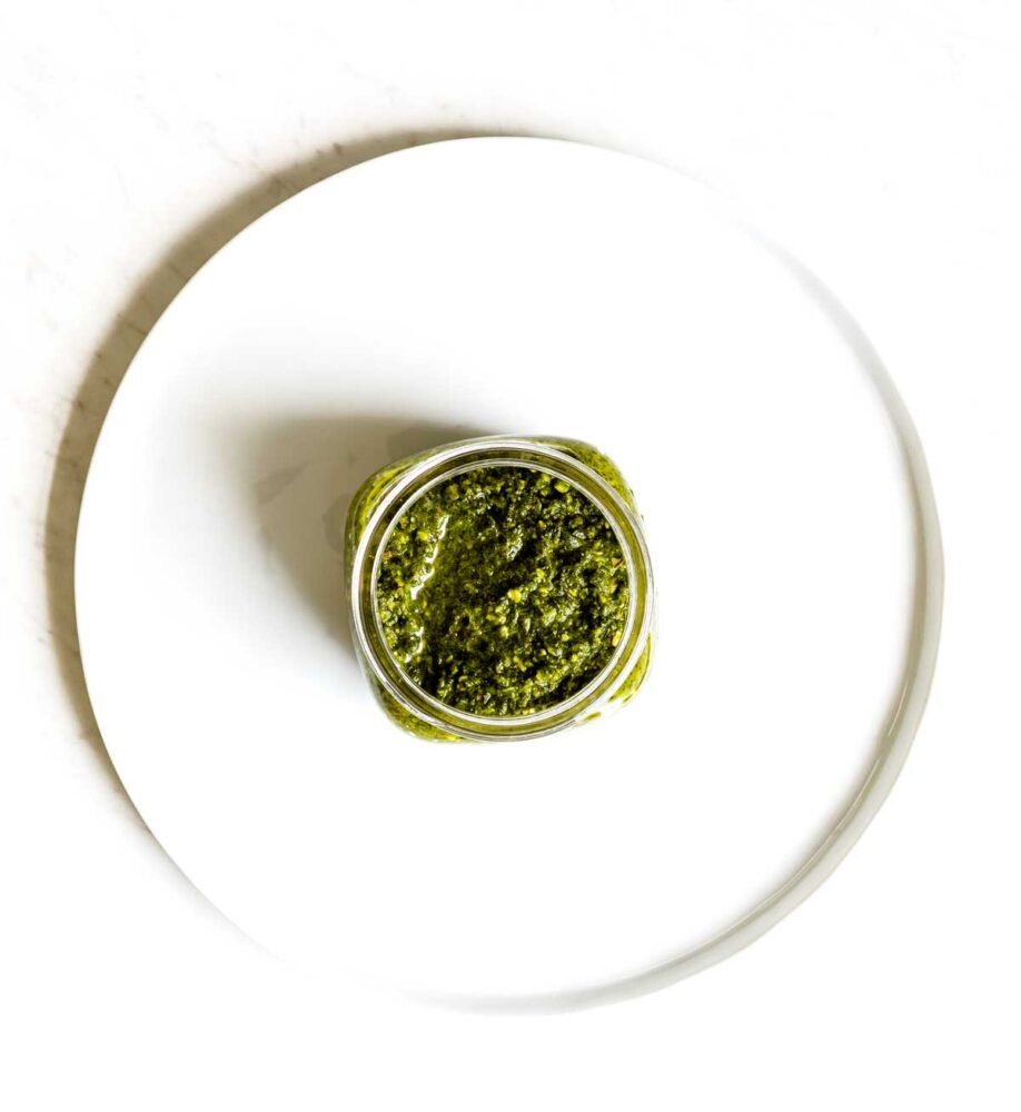 Healthy vegan lemon arugula pesto recipe