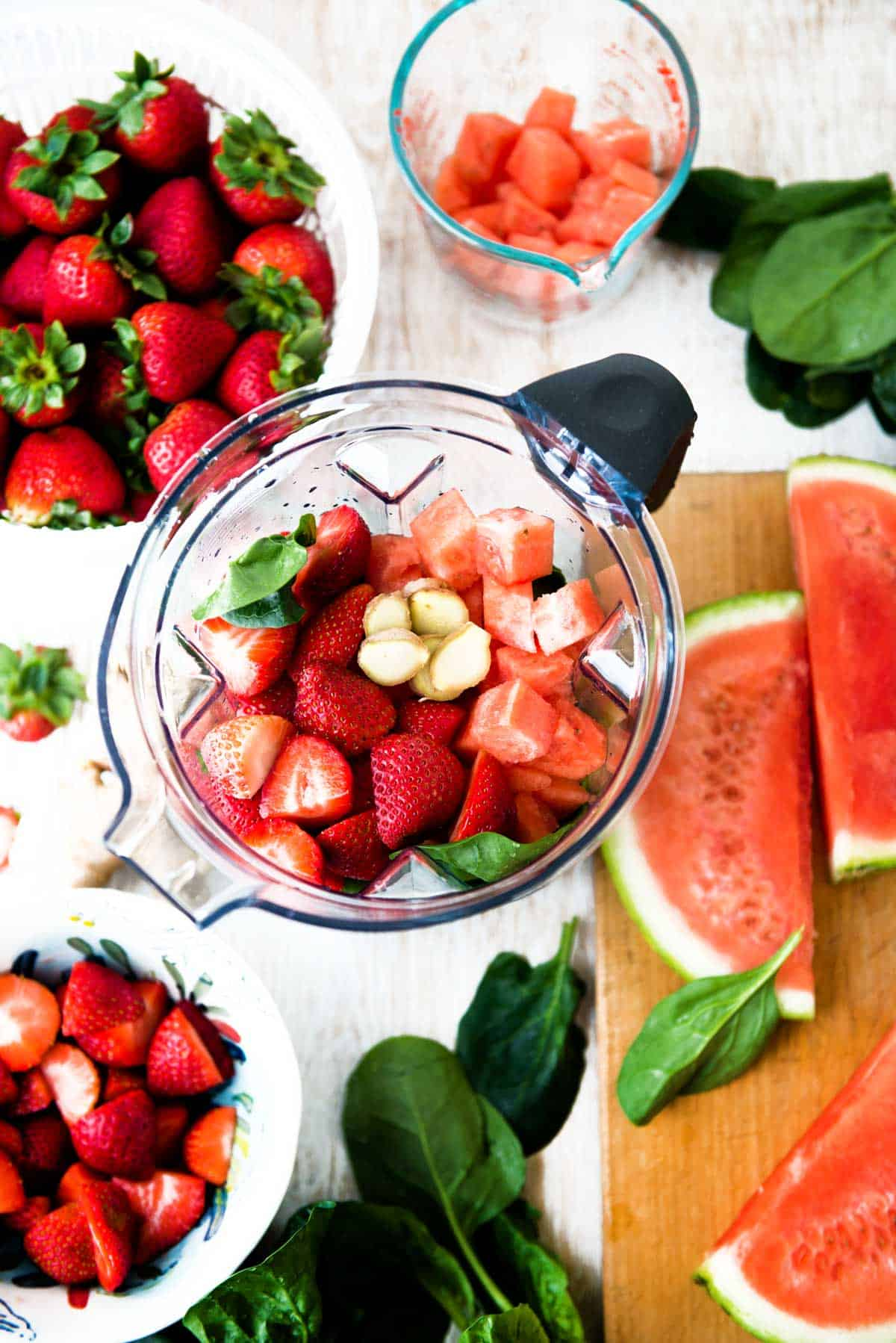 Strawberry Watermelon green smoothie recipe