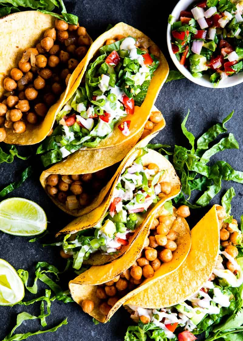 chickpea tacos that are delicious + nutritious