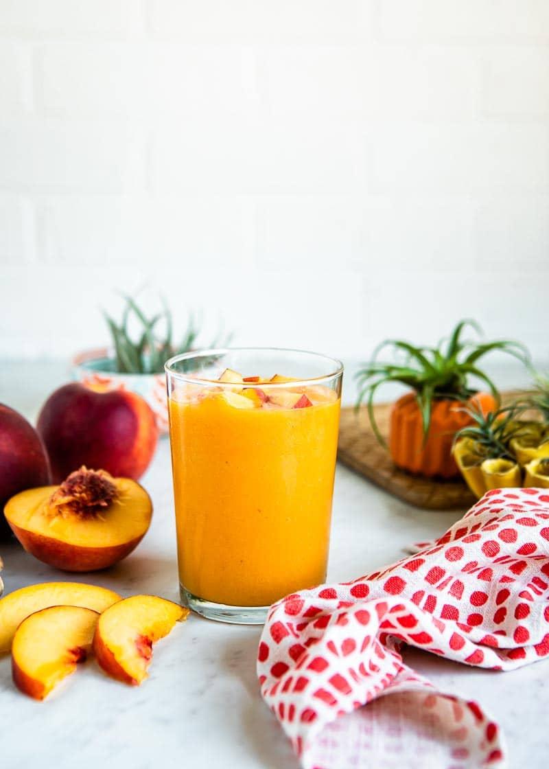 Simple peach smoothie recipe