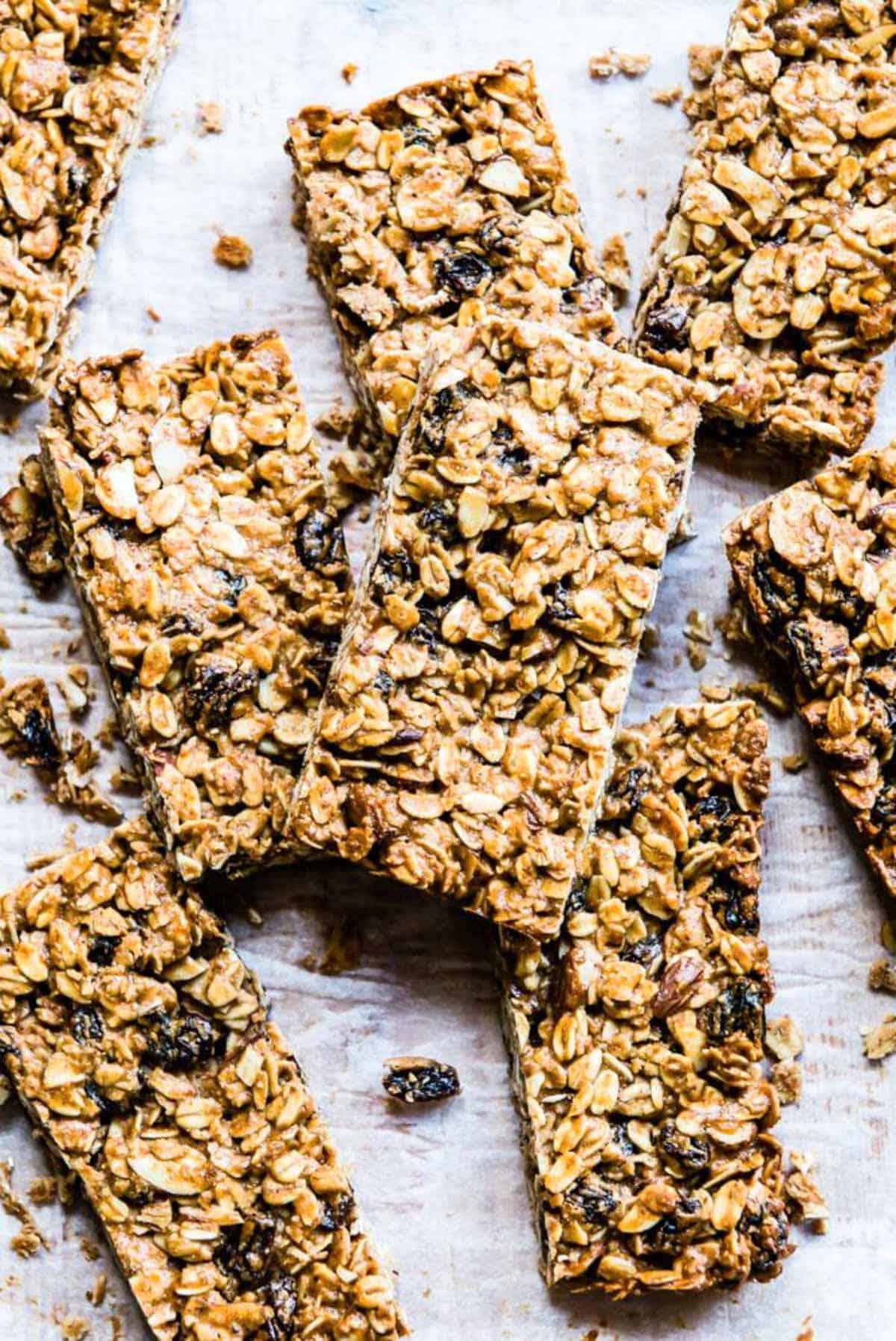 homemade granola bars with oats