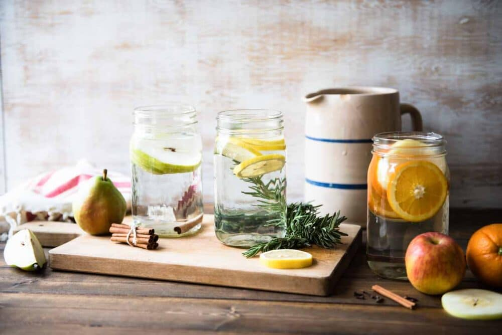 flavored water helps you stay hydrated