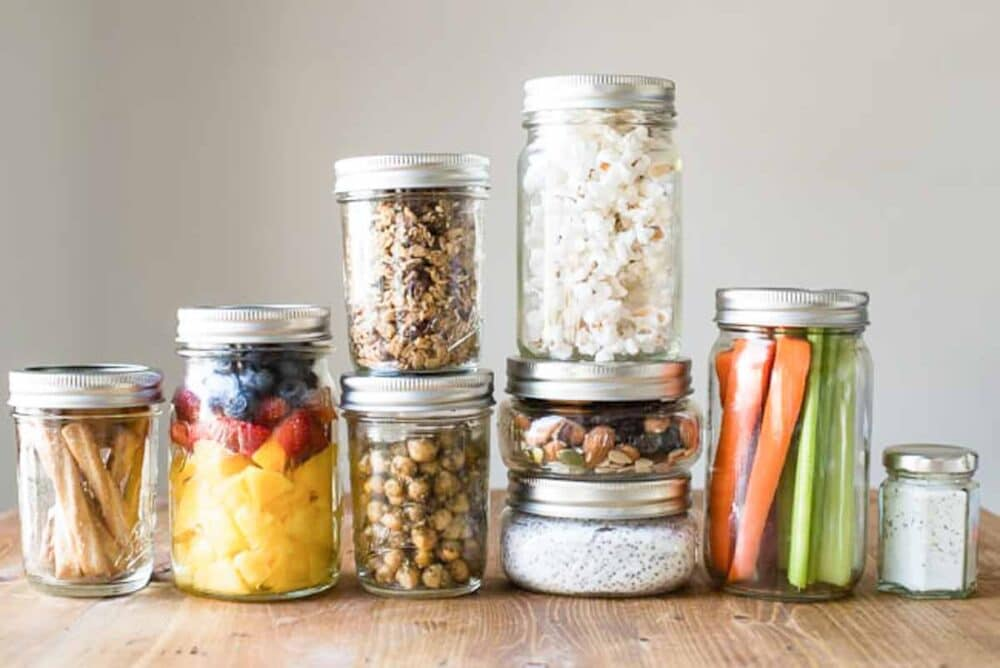 healthy snacks for work can be prepped ahead for easy grabbing