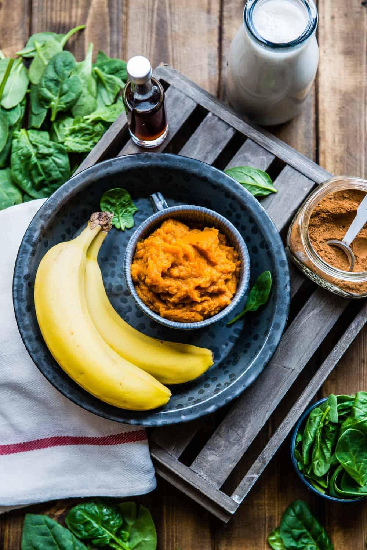 ingredients for pumpkin pie smoothie recipe