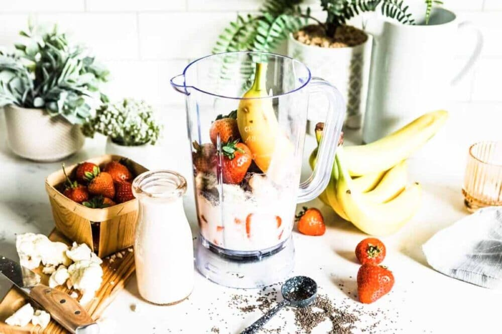 delicious smoothie full of plant based ingredients