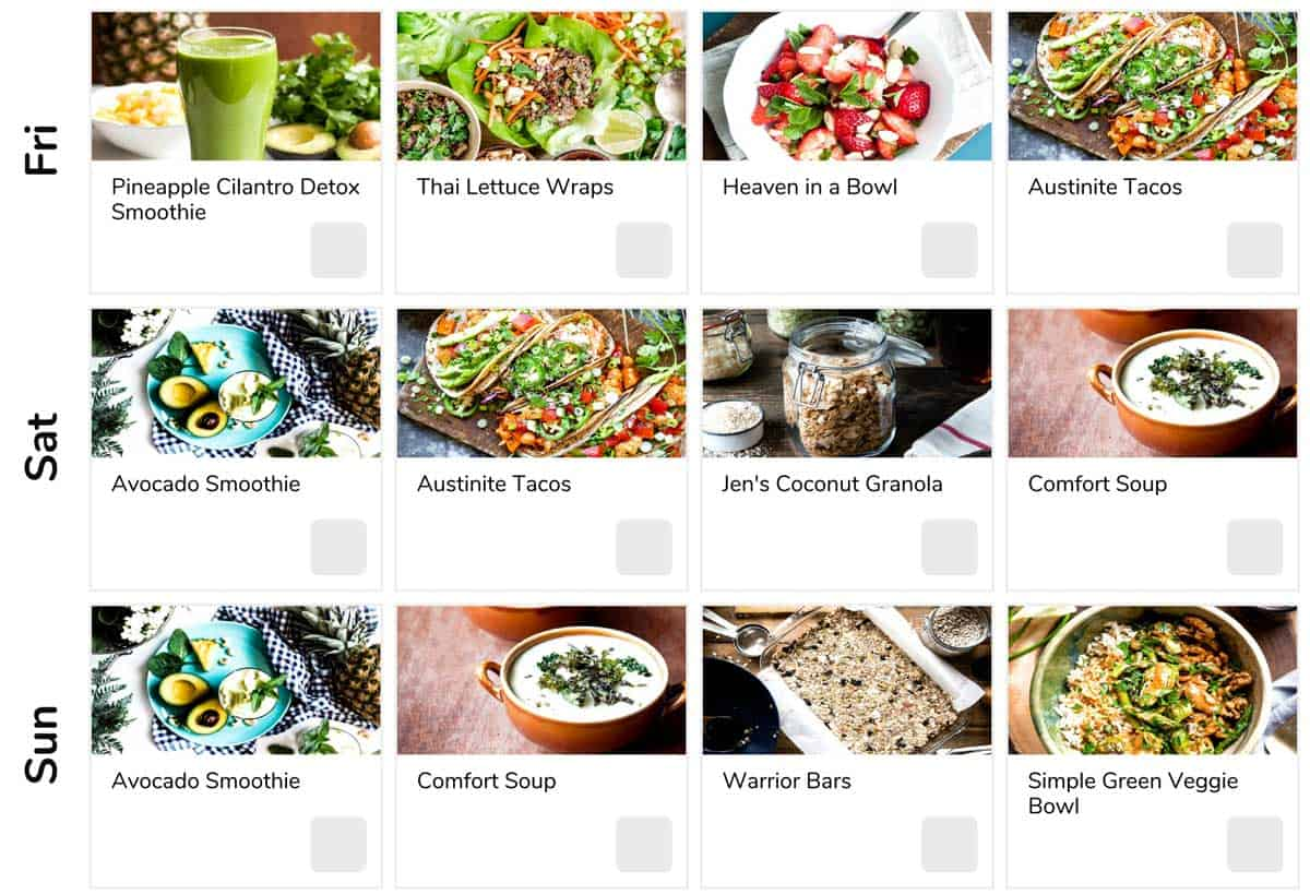 Weekend healthy eating tips with weight loss meal plan