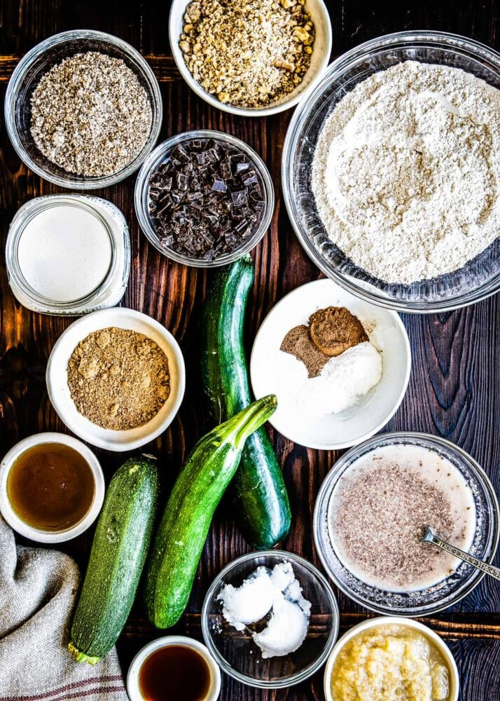 whole food ingredients are a great start to a great zucchini bread recipe