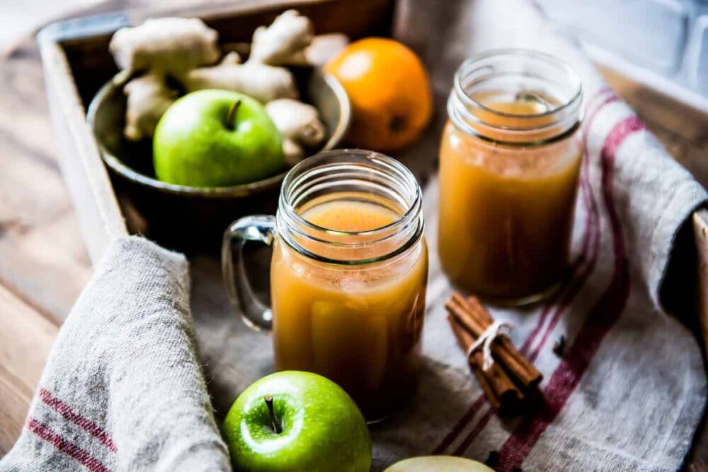 Hot apple cider recipe made in a crockpot