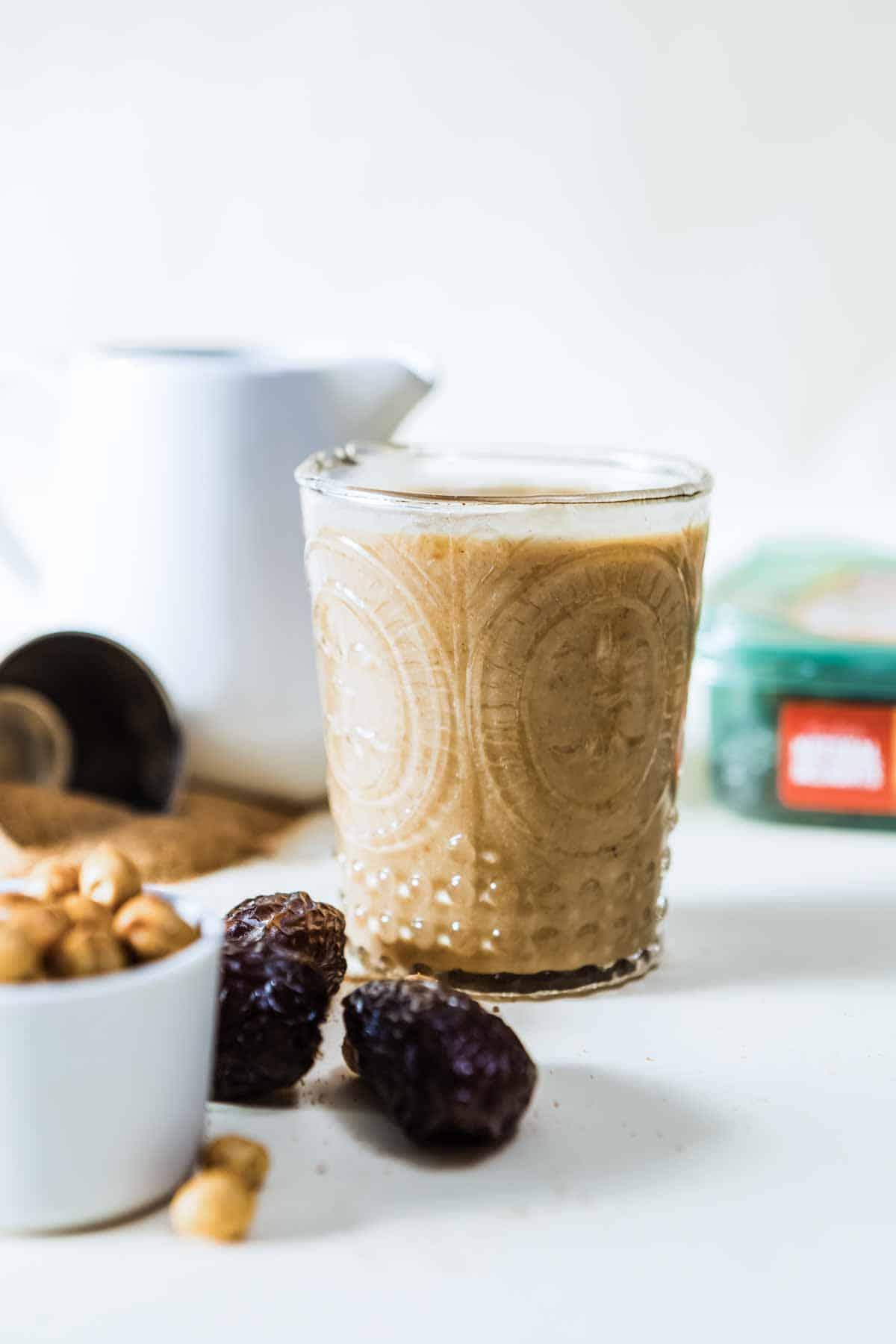 Healthy caramel protein shake