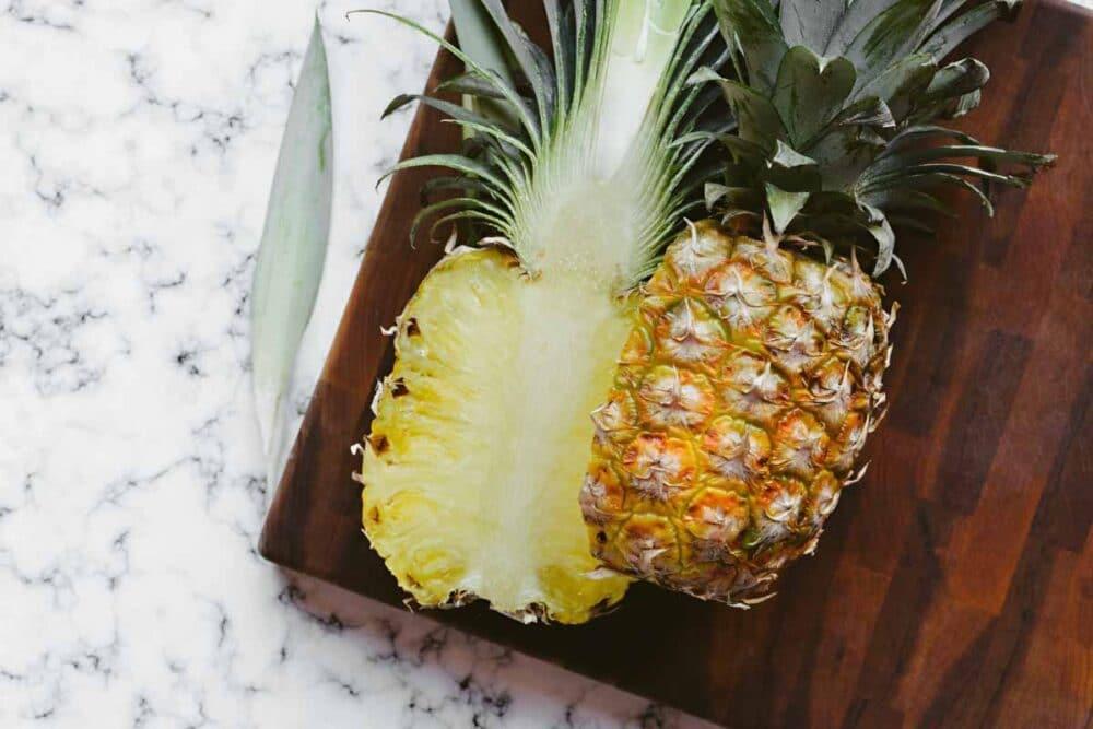 fresh pineapple for simple teriyaki bowl