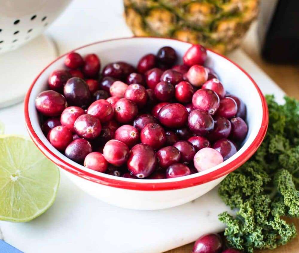 fresh cranberries for warm smoothie recipe
