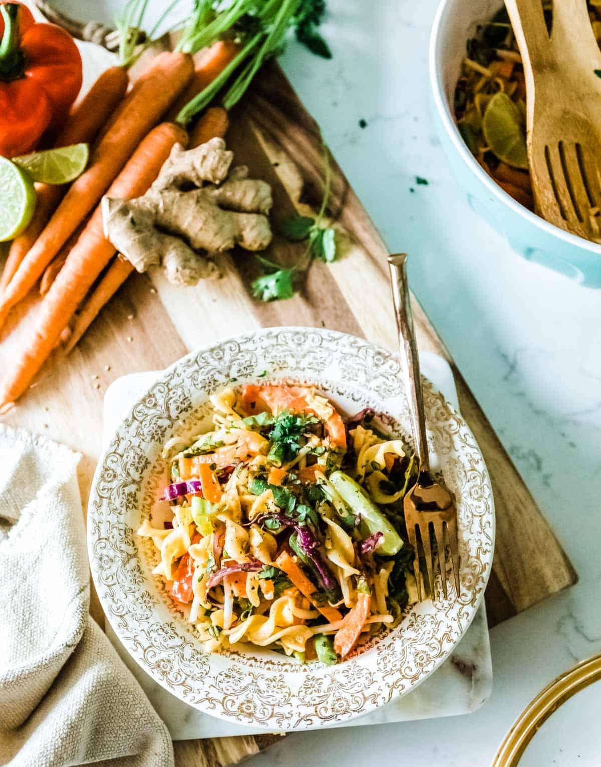 cold noodle salad ready to serve