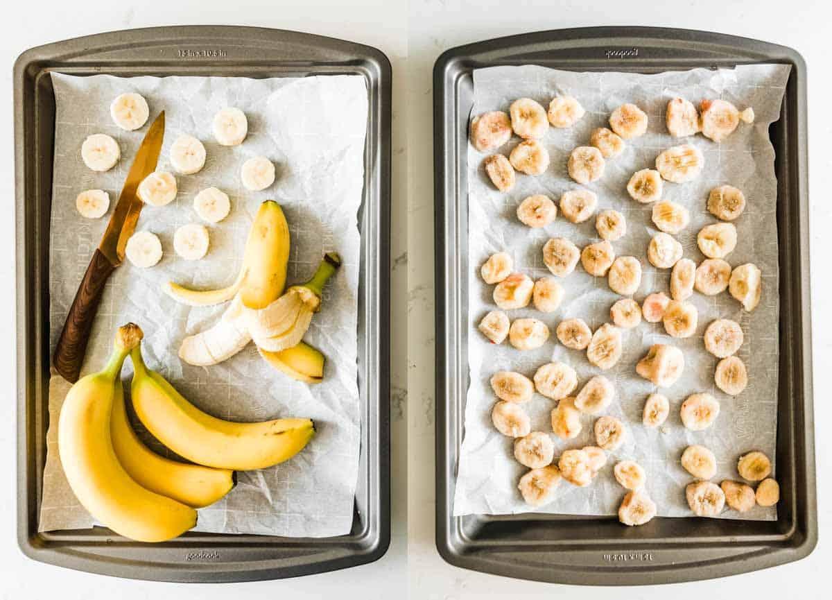 freezing bananas for smoothies