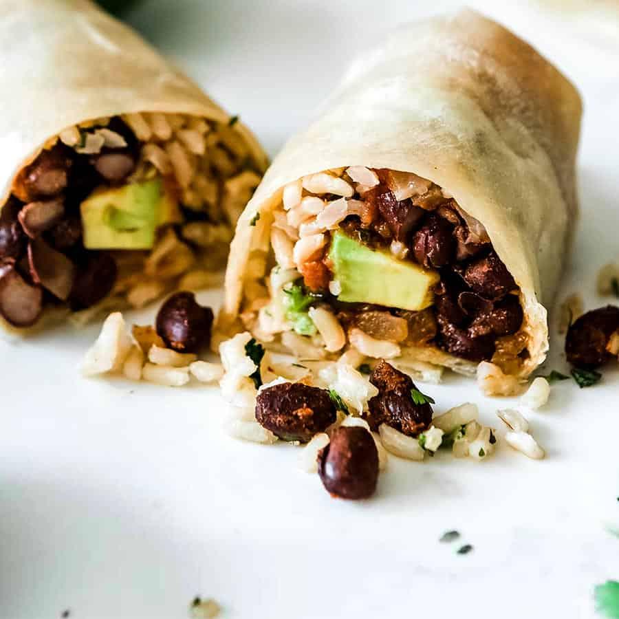bean and rice burrito recipe simple flour tortilla