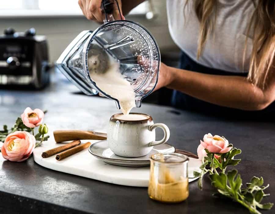 creamy homemade latte