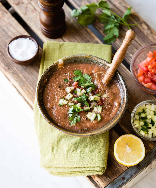 Blended easy gazpacho soup recipe