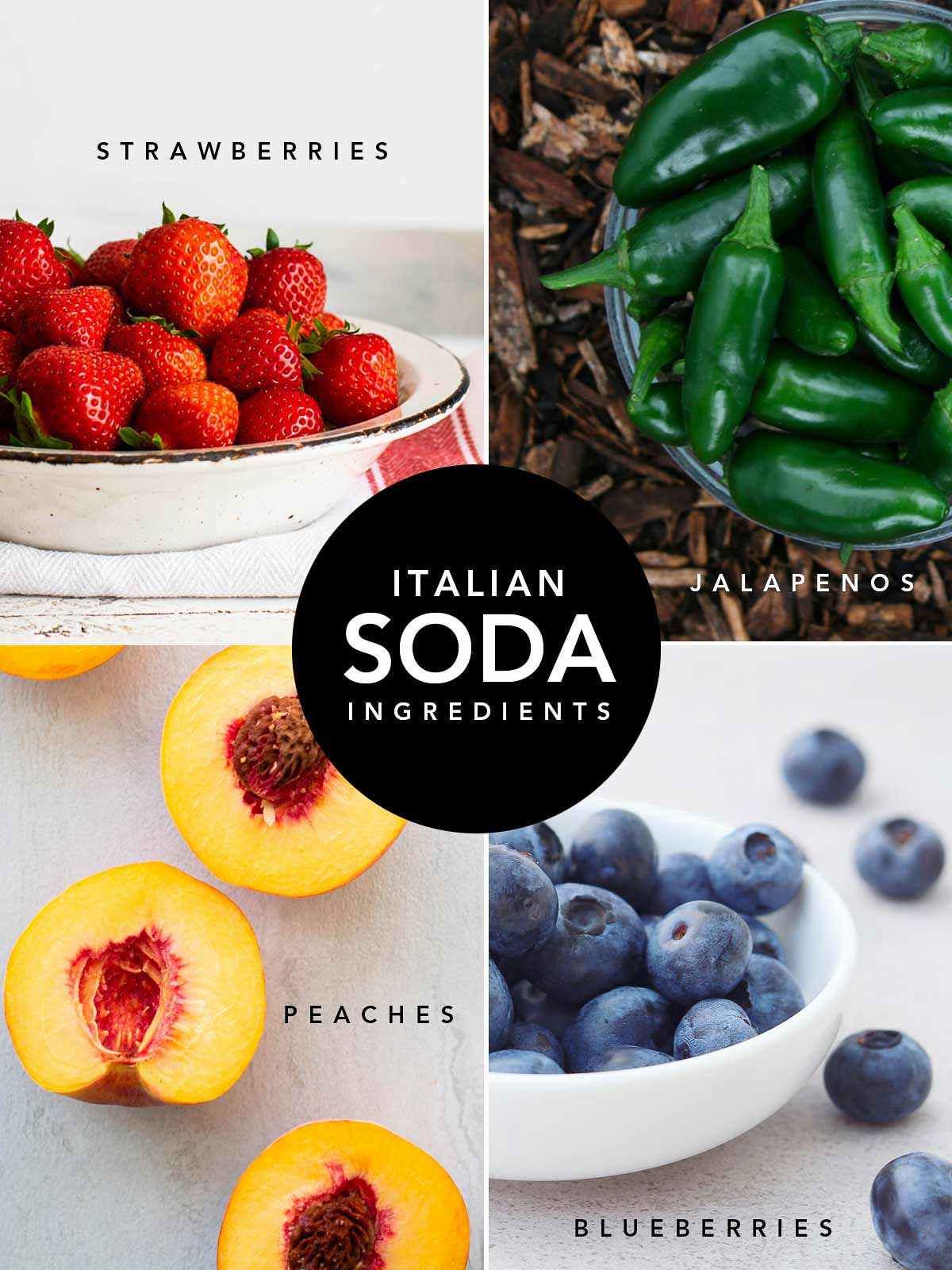 Fresh fruits are the perfect ingredients for real drinks
