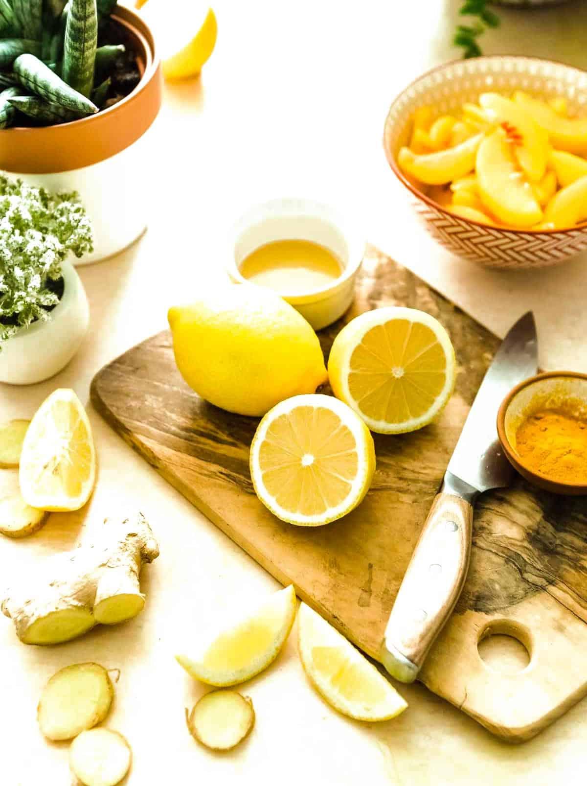 lemon peach smoothie