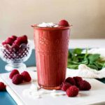 Raspberry smoothie recipe with greens