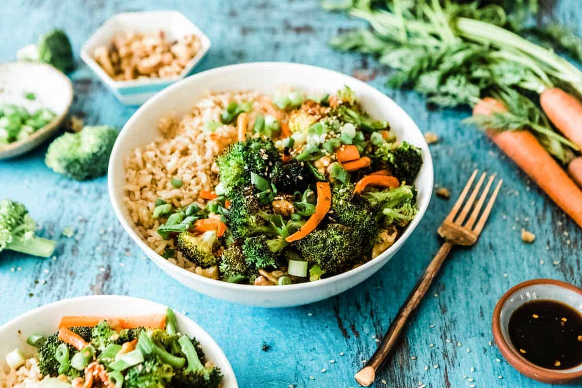 Broccoli rice bowl recipe