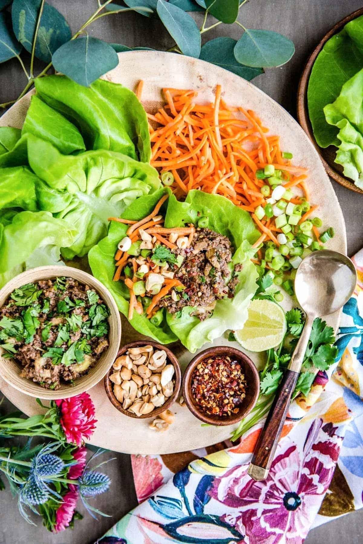 Plant based Thai lettuce wraps